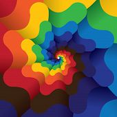 Colorful Abstract Infinite Spiral Of Bright Colors - Vector Background.