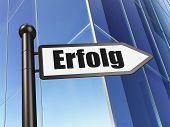 Finance concept: Erfolg(german) on Building background