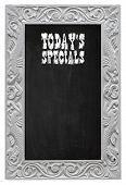 Chalkboard Blackboard Used As Today`s Specials