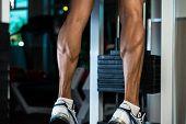 Muscular Man Calves