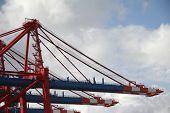 Crane At Landing Stage At Hamburg Harbor, Germany (B)