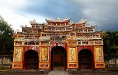 stock photo of entryway  - Ornate Gate at the Forbidden City - JPG