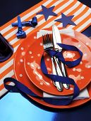 picture of bronco  - Denver Broncos party table settings for Super Bowl National Football League  - JPG
