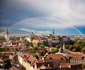 Rainbow over old Tallinn