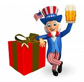 uncle Sam with gift