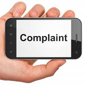 Law concept: Complaint on smartphone
