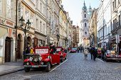 Famous Historic Red Car Praga