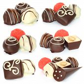Assorted chocolate candies set