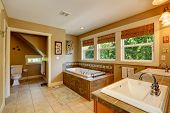 Beautirul Bathroom With Windows