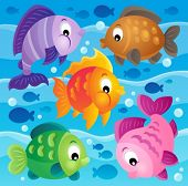 Fish theme image 9 - eps10 vector illustration.