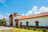 stock photo of homo  - Exterior of the Santa Ecce Homo monastery near Villa de Leyva in Boyaca Colombia - JPG