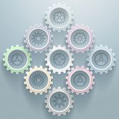 Nine Gears Decorative Background