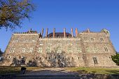 Palace of the Duques of Braganca, a medieval palace and museum in Guimaraes, Portugal. Unesco World