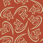 stock photo of hammer sickle  - Soviet symbols of hammer and sickle vector seamless pattern - JPG