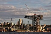 Famous naval crane awaits disposal in Sydney