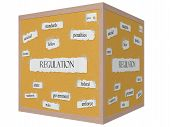 Regulation 3D Cube Corkboard Word Concept