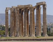 Greek temple of Olympian Zeus Athens
