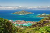 Aerial View Of Eden Island, Mahe, Seychelles