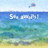 picture of parasailing  - Vector text composition Sea landscape with parasailing - JPG
