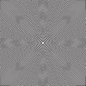 Optical illusion of rotation movement. Abstract op art background. Vector art.