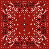 foto of red-necked  - Red Paisley Bandana Pattern - JPG