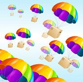image of parachute  - Parachute background - JPG