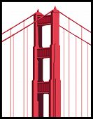 pic of golden gate bridge  - Golden Gate Bridge Art isolated on a white background - JPG