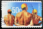 AUSTRALIA - CIRCA 2007: A stamp printed in Australia shows swimmers circa 2007