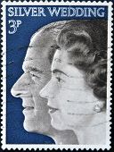 UNITED KINGDOM- CIRCA 1972: A stamp printed in Great Britain shows Queen Elizabeth II