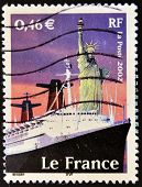 FRANCE - CIRCA 2002: A stamp printed in France shows the Statue of Liberty circa 2002