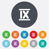 pic of roman numerals  - Roman numeral nine sign icon - JPG