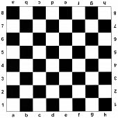 pic of draught-board  - black and white checks of chess board - JPG