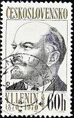 CZECHOSLOVAKIA - CIRCA 1970: A Stamp printed in Czechoslovakia shows Lenin circa 1970