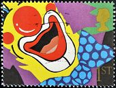 GREAT BRITAIN - CIRCA 1991: stamp printed by Great Britain shows Smiles of the Clown circa 1991