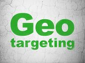 Business concept: Geo Targeting on wall background