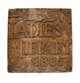 pic of cornerstone  - Cornerstone for original Ladies Library in Ann Arbor - JPG