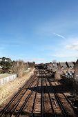 Railway Train Track Houses