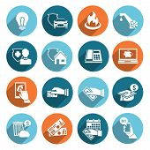 Pay Bill Icons Flat Set