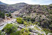 stock photo of jabal  - Image of landscape Wadi Bani Habib in Oman - JPG