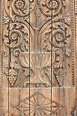 Fragment Of A Wooden Door