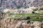 stock photo of jabal  - Image of landscape Saiq Plateau in Oman - JPG