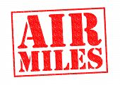 picture of mile  - AIR MILES red Rubber Stamp over a white background - JPG