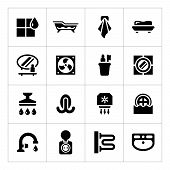 Set Icons Of Bathroom