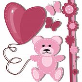 greeting card for baby with teddy bear