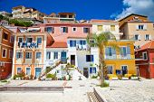 Traditional Greek fishing houses in  of Parga village. Greece.