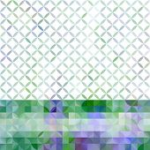 Lavender Pastel Defocused Background With Geometric Ornament And Horizontal Stripe. Eps10