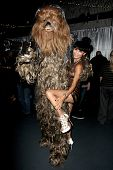LOS ANGELES - SEP 6:  Chewbacca, Bai Ling at the Night of Science Fiction, Fantasy & Horror After Party at IATSE Stage 80 on September 6, 2014 in Burbank, CA