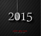 Original 2015 happy new year modern background with flat style text and soft shadows.