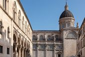 DUBROVNIK, CROATIA - MAY 26, 2014: Cathedral of the Assumption of the Virgin Mary in Dubrovnik, Croatia.