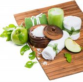 Spa Composition With Green Apple